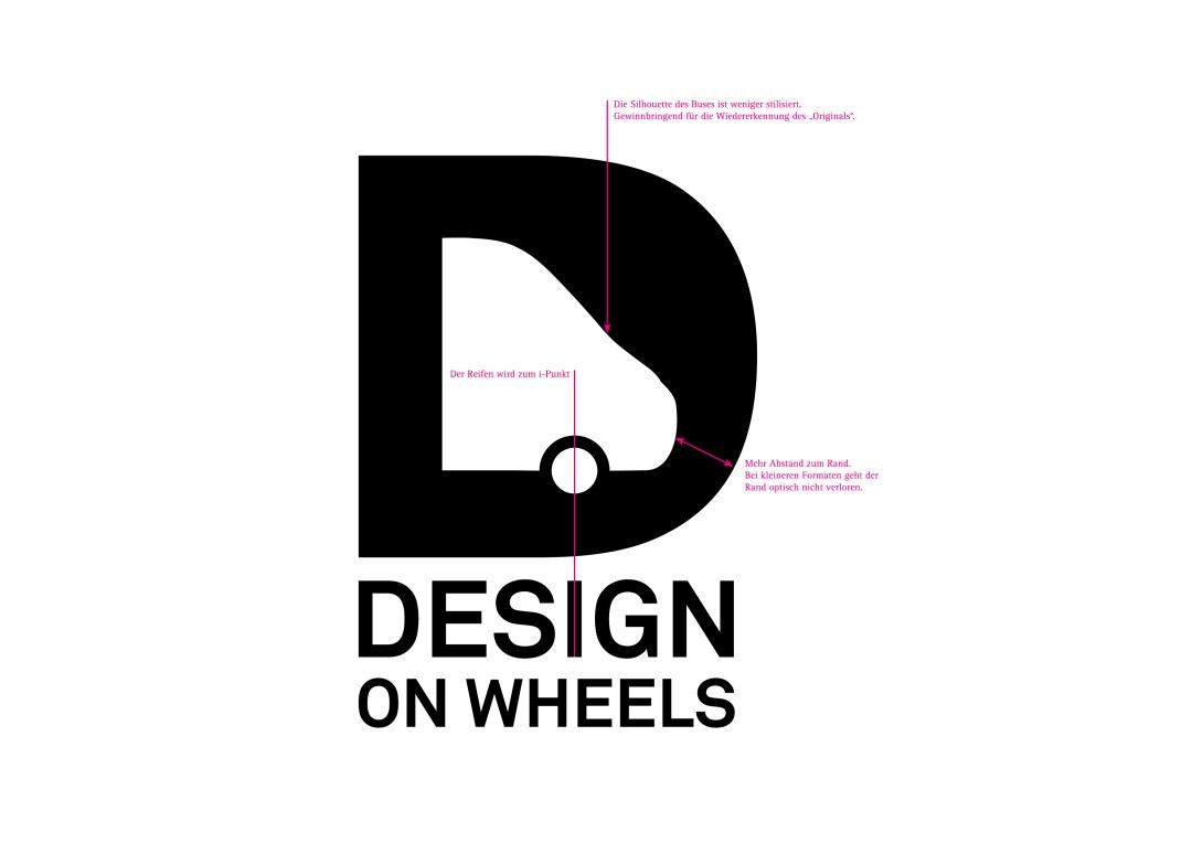 Kaum ist das LOGO zwei Wochen alt, gibt es schon ein REDESIGN. Jetzt also neu und noch besser, das DESIGN ON WHEELS Logo: